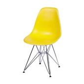Cadeira Eames com Base Cromada Amarelo 1 UN OR Design