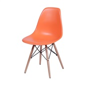 Cadeira Eames com Base Madeira Laranja 1 UN OR Design