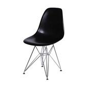 Cadeira Eames com Base Cromada Preto 1 UN OR Design