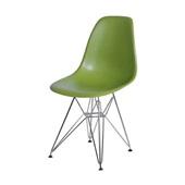 Cadeira Eames com Base Cromada Verde 1 UN OR Design