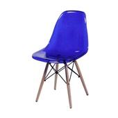 Cadeira Eames com Base de Madeira Azul 1 UN OR Design