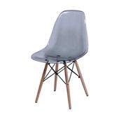 Cadeira Eames com Base de Madeira Fumê 1 UN OR Design