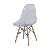 Cadeira Eames com Base de Madeira Incolor 1 UN OR Design