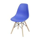 Cadeira Eames com Base de Madeira Azul Escuro 1 UN OR Design
