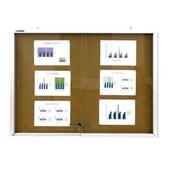 Quadro de Aviso com Porta de Vidro Cortiça e Alumínio 90x120cm Board Net