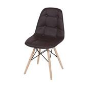 Cadeira Eames Eiffel Botone Base de Madeira Marrom 1 UN OR Design