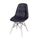 Cadeira Eames Eiffel Botone Base de Madeira Preta 1 UN OR Design