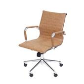 Cadeira Eames Clássica Charles Baixa Base Cromada Caramelo 1 UN OR Design
