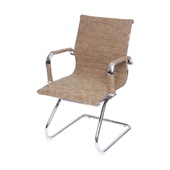 Cadeira Eames Clássica Charles Base Cromada Castanho 1 UN OR Design