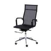 Cadeira Eames Clássica Charles Base Cromada Preta 1 UN OR Design