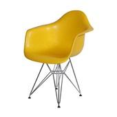 Poltrona Eames Base Cromada Amarelo 1 UN OR Design