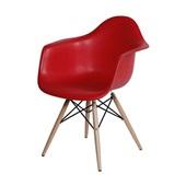 Poltrona Eames Base Madeira Vermelho 1 UN OR Design