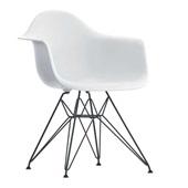 Poltrona Eames Base Cromada Branco 1 UN OR Design