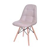 Cadeira Eames Eiffel Botone Base de Madeira Fendi 1 UN OR Design