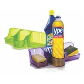 Suporte para Detergente com 3 Divisões 1 UN Ercaplast