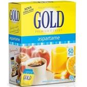 Adoçante em Pó Aspartame Sachê 0,8g CX 50 UN Gold