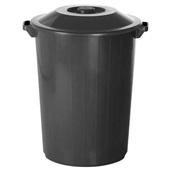 Lixeira Recycle 35L Preto 1 UN Plasvale