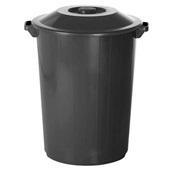 Lixeira Recycle 64L Preto 1 UN Plasvale