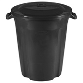 Lixeira Recycle 97L Preto 1 UN Plasvale
