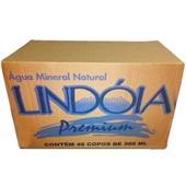 Água Mineral Premium sem Gás Copo 305ml  CX 48 UN Lindoia