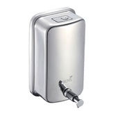 Dispenser Saboneteira para Sabonete Líquido ou Álcool em Gel 1L Inox 1 UN Biovis