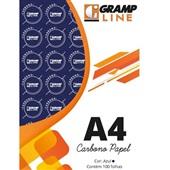 Papel Carbono Azul A4 21x29,7cm 100 FL GE-927 Grampline