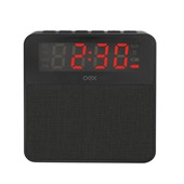 Caixa de Som Clock Speaker Wake Bluetooth Despertador 10W Preto CS100 1 UN OEX