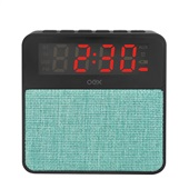 Caixa de Som Clock Speaker Wake Bluetooth Despertador 10W Verde CS100 1 UN OEX