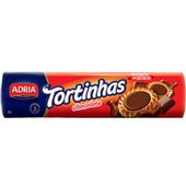 Biscoito Recheado Tortinhas Chocolate 160g 1 UN Adria