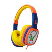 Headphone Cartoon Kids Laranja e Roxo HP302 1 UN OEX