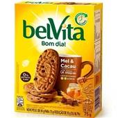 Biscoito Mel e Cacau 75g CX 3 PT Belvita