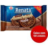Biscoito Amanteigado Chocolate Sachê 9g CX 180 UN Renata