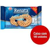 Biscoito Amanteigado Leite Sachê 9g CX 180 UN Renata
