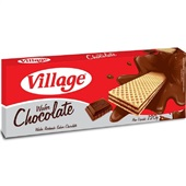 Biscoito Wafer Chocolate 120g 1 UN Village