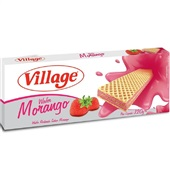 Biscoito Wafer Morango 120g 1 UN Village
