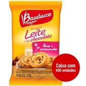 Biscoito Amanteigado Leite Gotas de Chocolate Sachê 11,8g CX 400 UN Bauducco