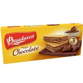Biscoito Wafer Chocolate 140g 1 UN Bauducco