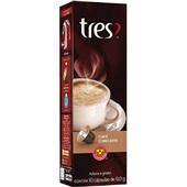 Cápsula de Café com Leite Tres 9g CX 10 UN 3 Corações