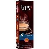 Cápsula de Café Espresso Decaf Tres 8g CX 10 UN 3 Corações