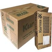 Canudo de Papel Biodegradável para Água e Suco 19,5cm x 5mm Branco CX 1000 UN Kurma