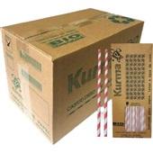 Canudo de Papel para Milk Shake e Açaí 21cm x 10mm Colorido CX 1000 UN Kurma