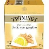 Chá Infusions de Limão com Gengibre Sachê 1,5g CX 10 UN Twinings