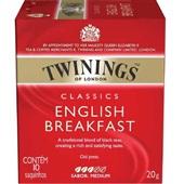 Chá Classics English Breakfast Sachê 2g CX 10 UN Twinings