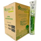 Copo Plástico Biodegradável 200ml Transparente CX 2500 UN Ecocoppo Green