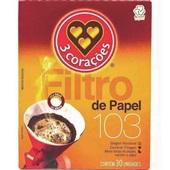 Filtro de Papel Nº103 CX 30 UN 3 Corações