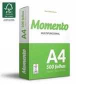 Papel Sulfite A4 75g Resma de 500 Folhas Momento