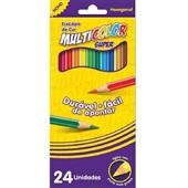 Lápis de Cor Sextavado 24 Cores Multicolor Super Faber Castell