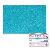 Folha de E.V.A com Glitter Azul Claro 60x40cm 1 UN Seller