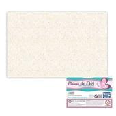 Folha de E.V.A com Glitter Branco 60x40cm 1 UN Seller