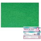 Folha de E.V.A com Glitter Verde 60x40cm 1 UN Seller